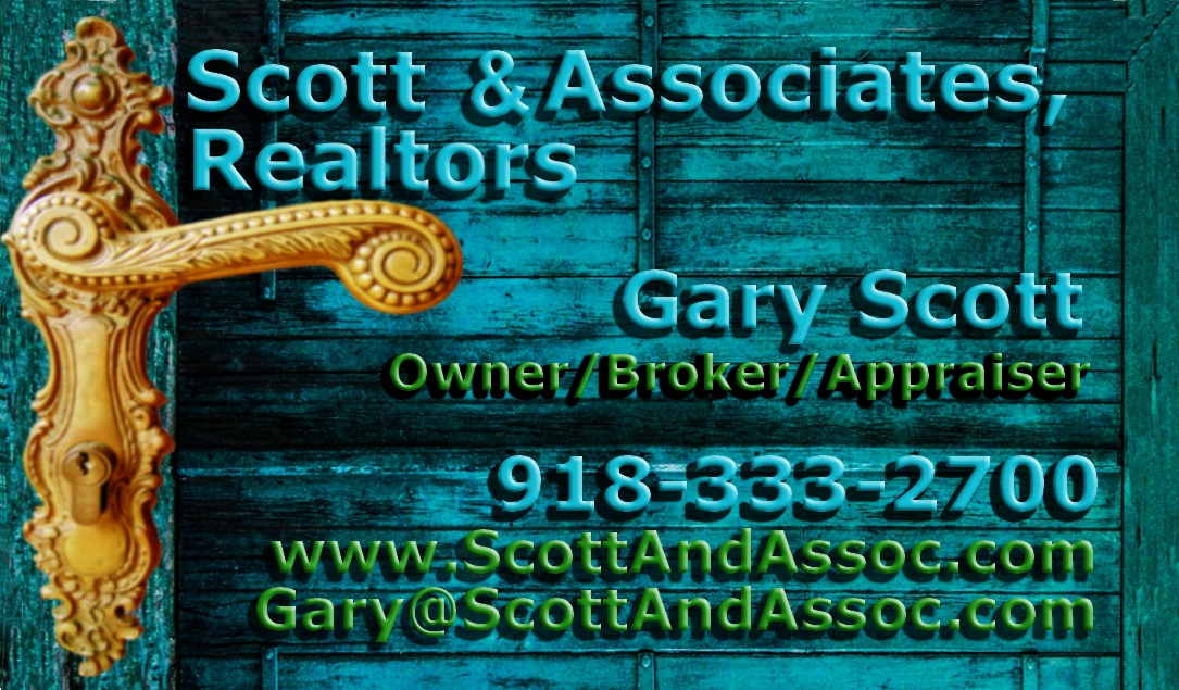 Scott & Associates, Realtors Business Card Phone 918-333-2700